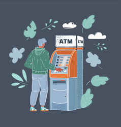 man draws out money vector image
