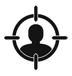 Man recruitment target icon simple style vector