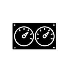 meter control dual icon vector image