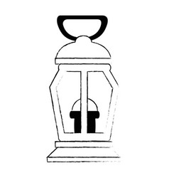 mine lantern isolated icon vector image