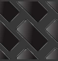 modern smartphones layered mockup diagonal vector image
