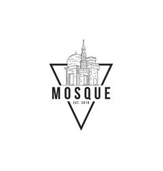 mosque logo template religious building logo vector image