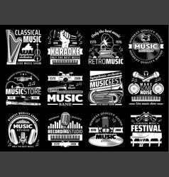 musical instruments record studio karaoke vector image