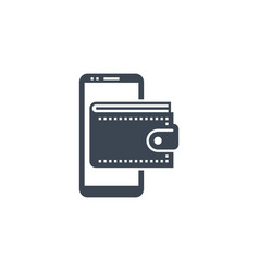 On wallet related glyph icon vector