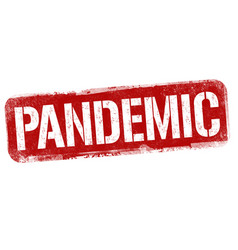 pandemic sign or stamp vector image