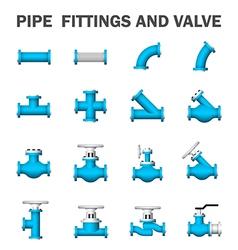 Pipe valve vector