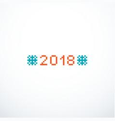 pixel 2018 background vector image