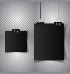 poster hanging on transparent background vector image