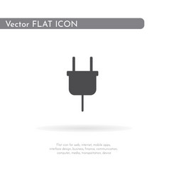 power socket icon for web business finance and vector image