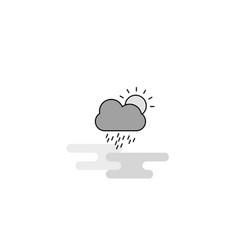 raining web icon flat line filled gray icon vector image