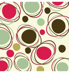 Retro - seamless pattern vector image