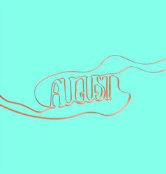 Ribbon font forms august vector