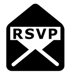 rsvp black icon vector image