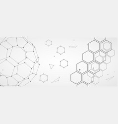 science futuristic background vector image