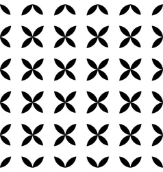Seamless pattern background of black leafs vector image