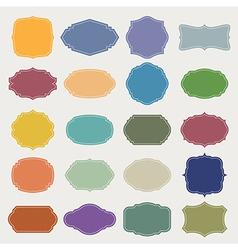 set blank vintage frame vector image