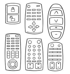 set of remote control vector image