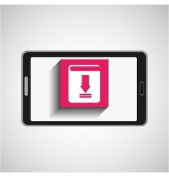 smartphone technology download button vector image