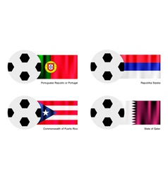 Soccer Ball with Aland Albania Alderney Flag vector image