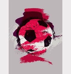 soccer typographical vintage grunge style poster vector image