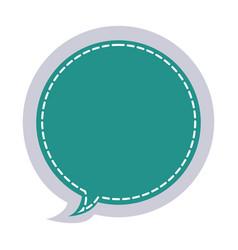Sticker circular balloon frame callout dialogue vector