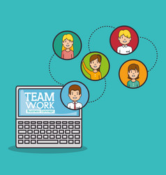 Teamwork business concept vector