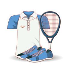 Tennis men clothing icon vector