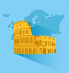 travel around europe vector image
