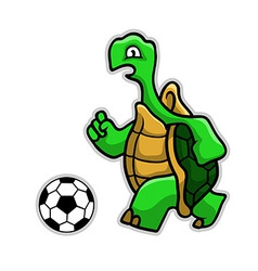 Turtle soccer vector