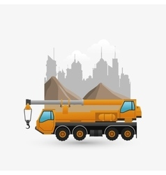 Under construction design truck concept repair vector image
