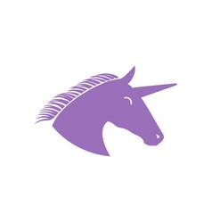 unicorn icon design template isolated vector image