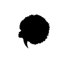 Woman silhouette with fashion curly afro hair vector