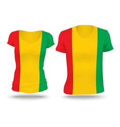 Flag shirt design of Guinea vector image vector image