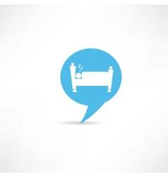 sleeping man in blue speech bubble vector image vector image
