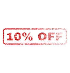10 percent off rubber stamp vector image vector image