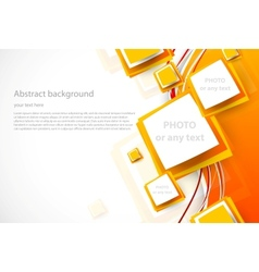 Abstract orange brochure vector image