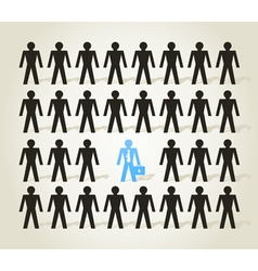 Crowd of people3 vector image vector image