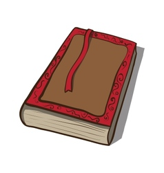 Old book icon Hand drawn vector image vector image