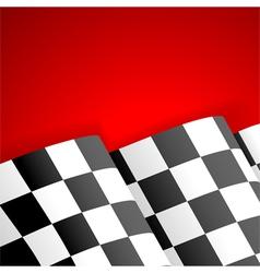 Racing Checkered Flag Finish vector image