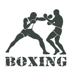 boxing players fighting sportsman games vector image vector image