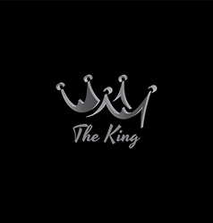 king crown logo template vector image