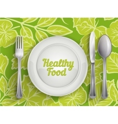 Plate spoon knife and fork vector image vector image