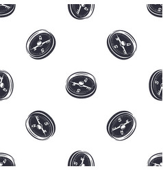 vintage hand drawn compass seamless pattern vector image vector image
