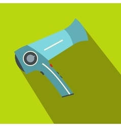 Hairdryer flat icon with shadow vector image
