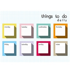 things to do daily long shadow vector image vector image