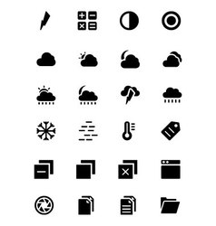 Universal Web and Mobile Icons 5 vector image vector image