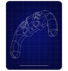 3d model of joystick on a blue vector