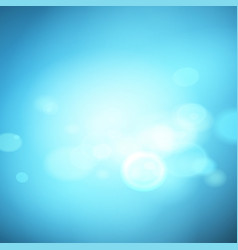 Abstract blue effect background with bokeh vector