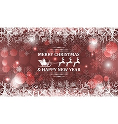 Abstract Christmas background Santa on sleigh with vector
