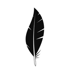 abstract feather icon simple style vector image